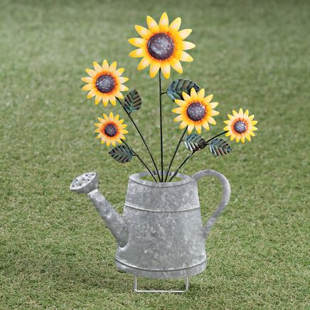 Watering Can Stake with 4 Bouquets by Fox River™ Creations-367006