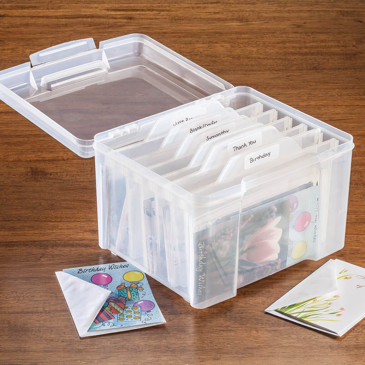 Greeting Card Organizer with Dividers-367052