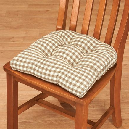 Gingham Chair Pad-367178