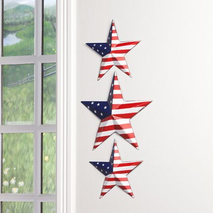 American Flag Barn Stars, Set of 3-367356