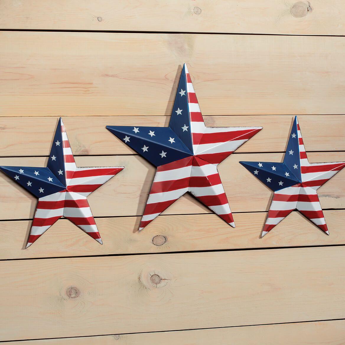 American Flag Barn Stars, Set of 3 by Fox River Creations™-367356