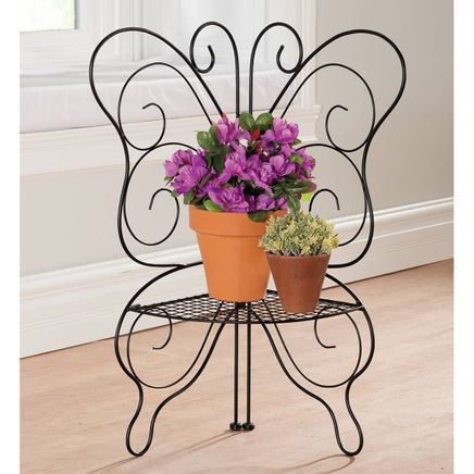 Wire Butterfly Plant Holder-367358