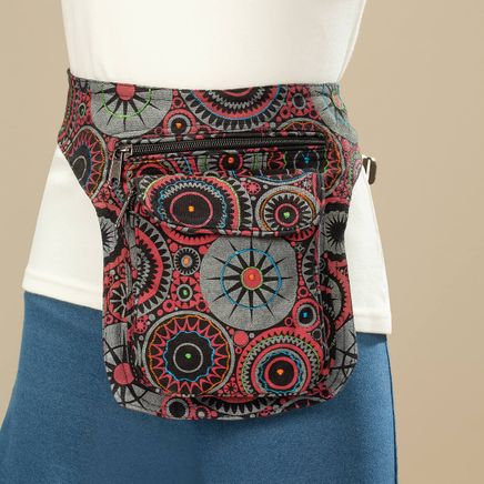 Vertical Cotton Fanny Pack-367371