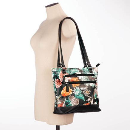 B.Amici™ Viola RFID Floral Leather Tote-367446