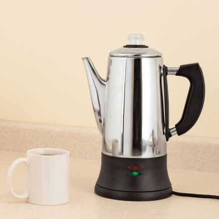 12-Cup Stainless Steel Coffee Percolator-367507