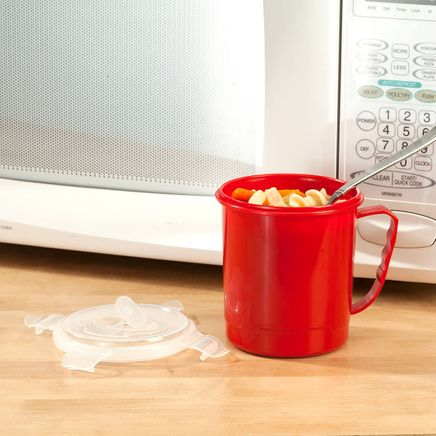 22-oz. Microwave Soup Mug with Vented Lid by Chef's Pride™-367541