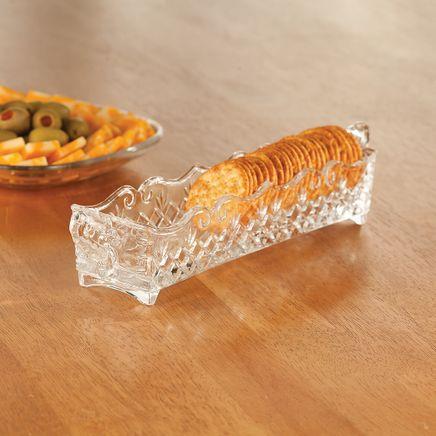 William Roberts Vintage Glass Cracker & Relish Tray-367560