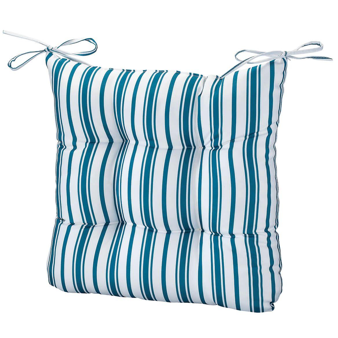 William Roberts Blue Stripe Chair Pad-367563