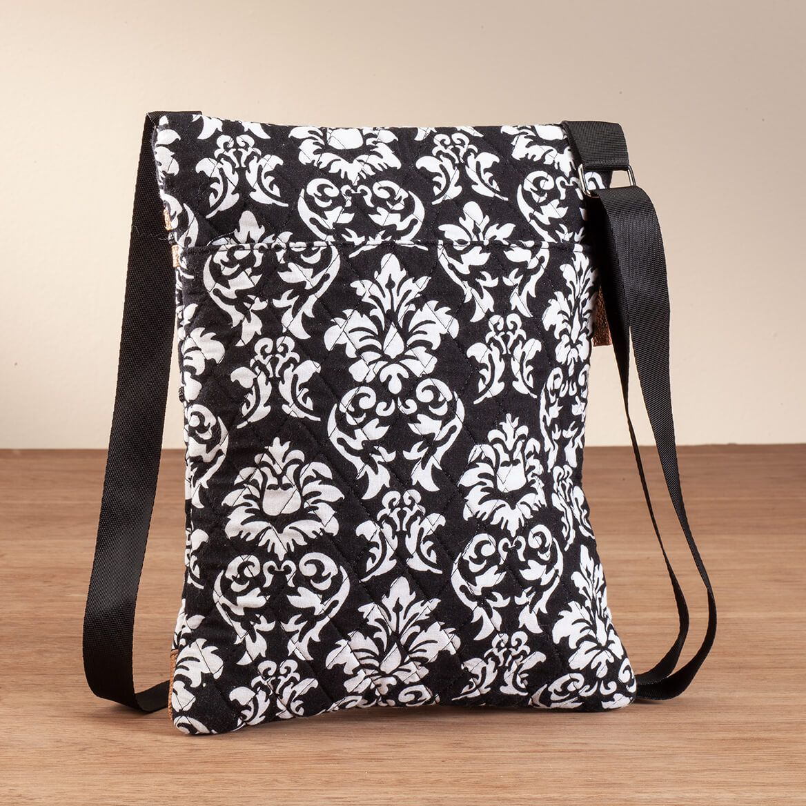 Quilted Black and White Crossbody Bag-367579