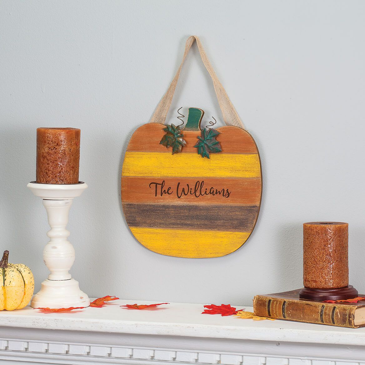 Personalized Pumpkin Door Hanger-367589