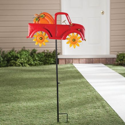 Harvest Red Truck Spinner Stake by Fox River Creations™-367594