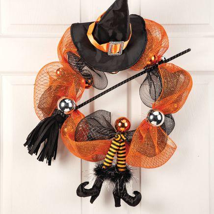 Witch Legs Halloween Wreath by OakRidge™-367610