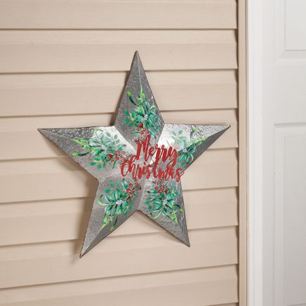Merry Christmas Metal Star by Fox River Creations™-367613