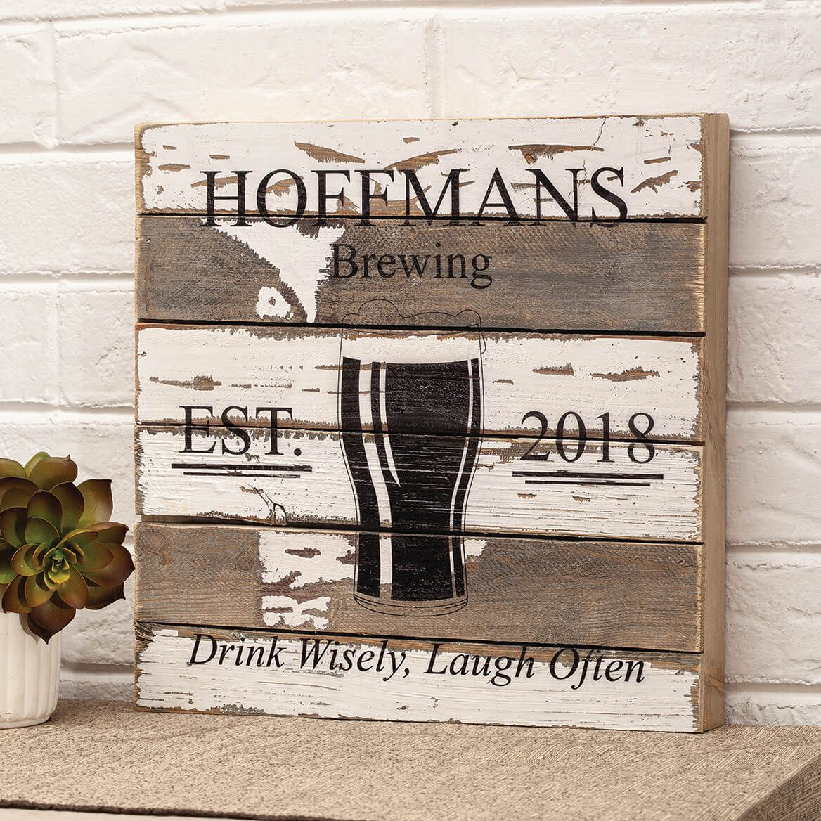 Personalized Pub Reclaimed Wood Sign by Sweet Bird & Co.-367663