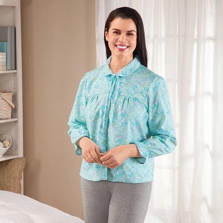 Flannel Floral Bed Jacket-367671