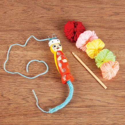 Wood Knitting Doll-367672