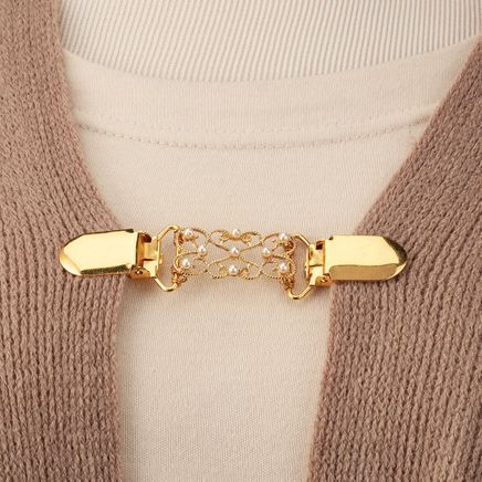 Decorative Goldtone Sweater Clasp-367731
