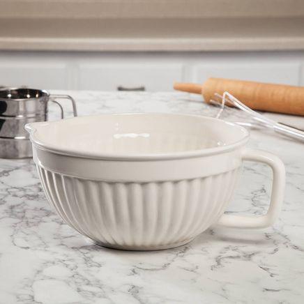 Large Creamware All Purpose Batter Bowl-367744