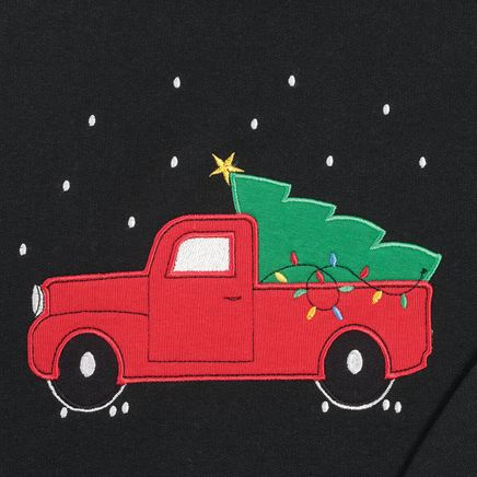 Red Truck with Tree Sweatshirt-368012