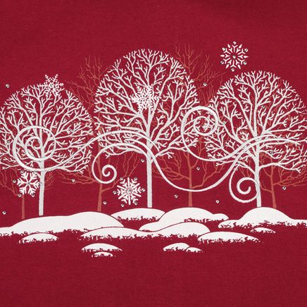 White Trees with Swirls Sweatshirt-368023