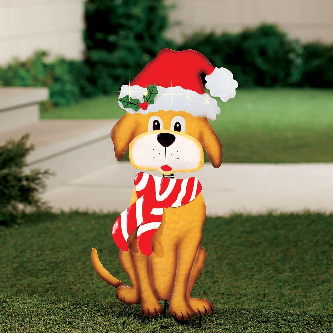 Solar Christmas Dog Stake by Fox River™ Creations-368062