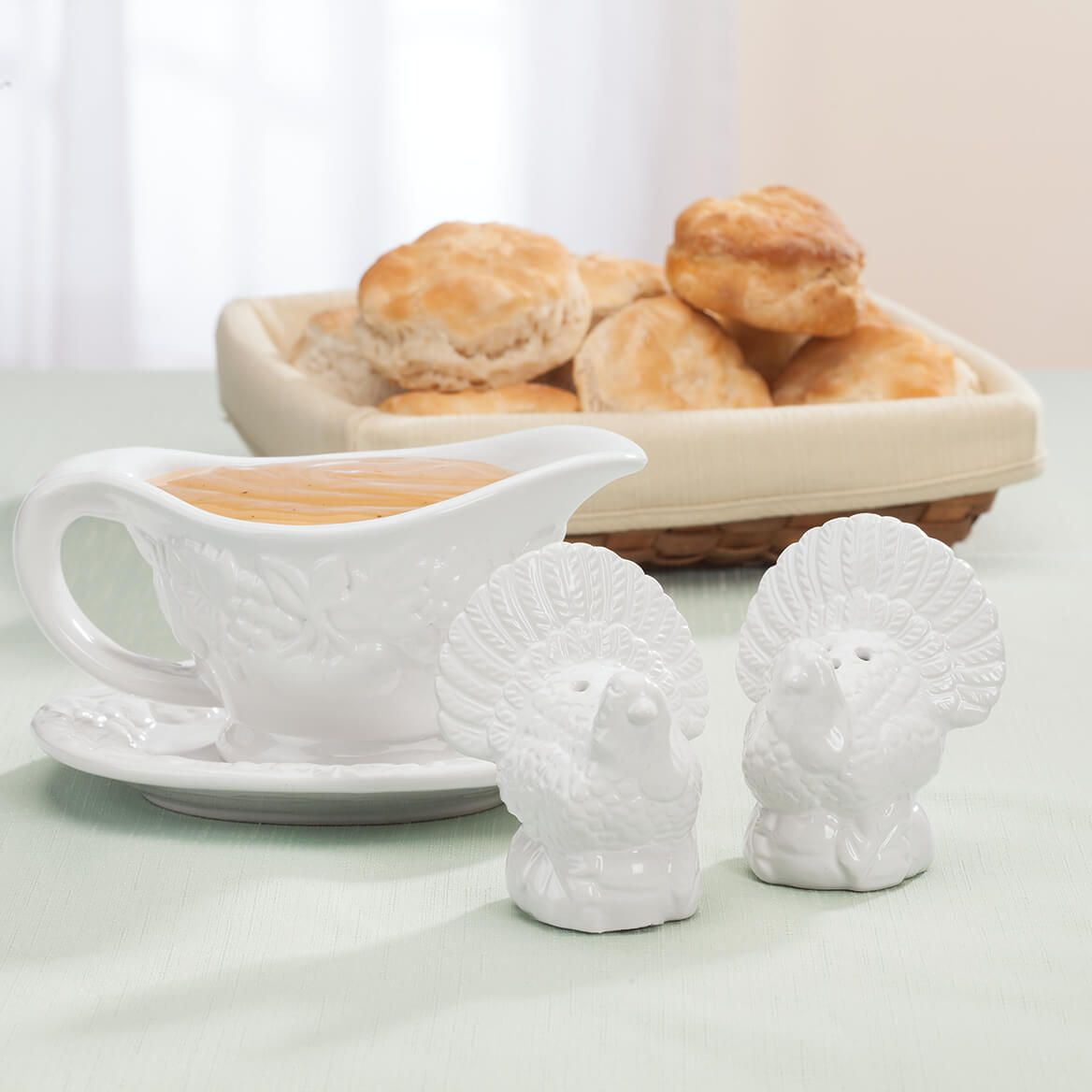 Ceramic Turkey Salt and Pepper Shakers-368070