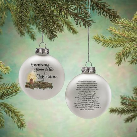 Empty Chair Glass Ball Ornament by Holiday Peak™-368081
