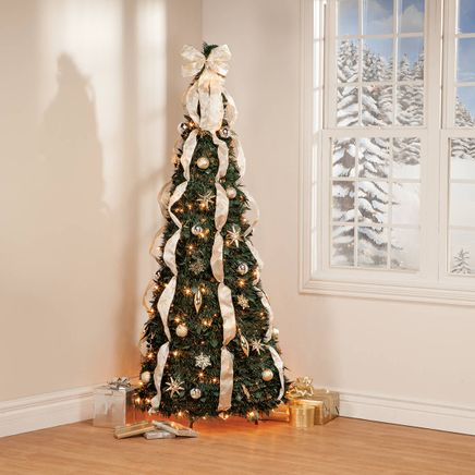 6-ft. Silver & Gold Pull-Up Tree-368087