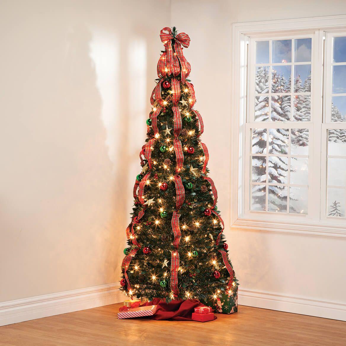 7' Plaid Pull-Up Tree by Holiday Peak™      XL-368144