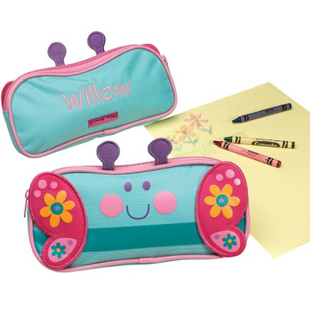 Personalized Stephen Joseph® Butterfly Pencil Pouch-368162