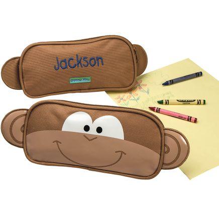 Personalized Stephen Joseph® Monkey Pencil Pouch-368164