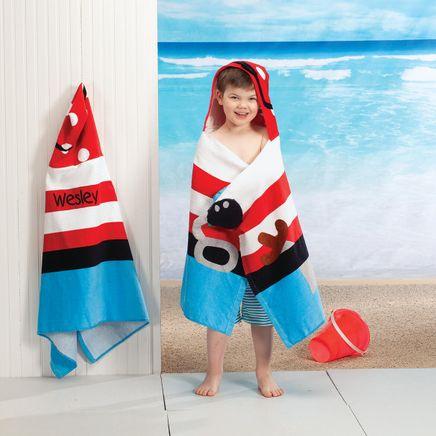 Personailzed Stephen Joseph® Hooded Pirate Towel-368166