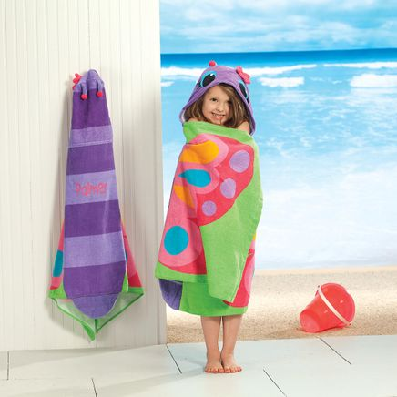 Personalized Stephen Joseph® Hooded Butterfly Towel-368168
