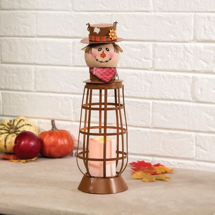 Lighted Metal Scarecrow Lantern by Fox River™ Creations-368205