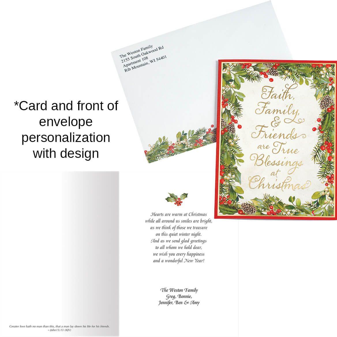 Faith, Family, Friends Christmas Card Set of 20-368253