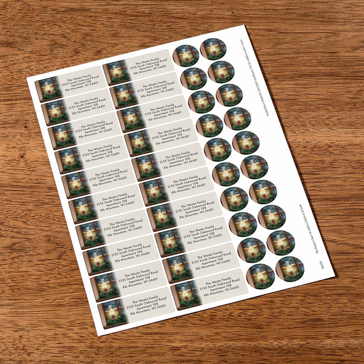Personalized The empty Chair Labels & Envelope Seals 20-368269
