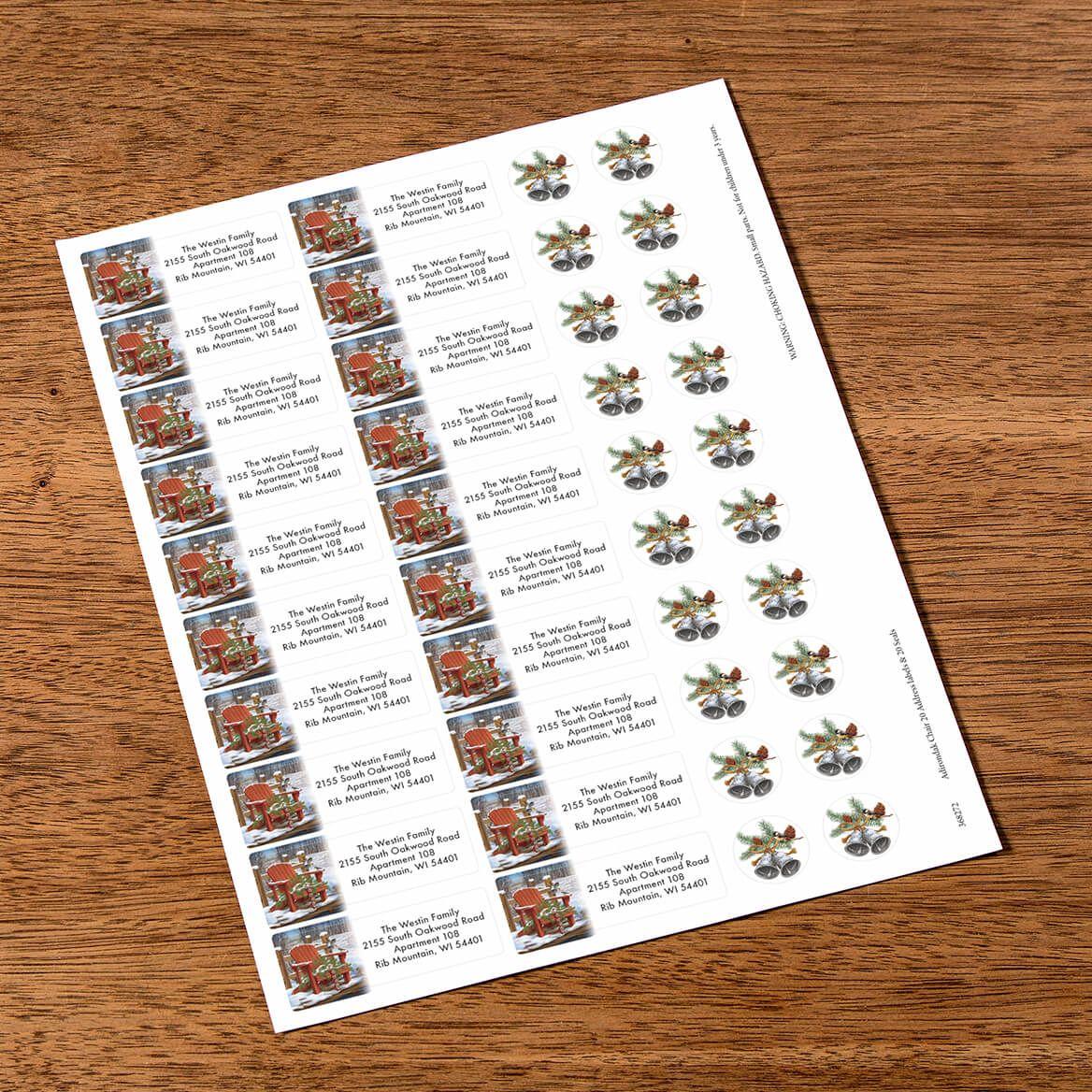 Personalized Adirondak Chair Labels & Envelope Seals 20-368272