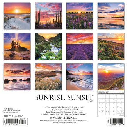 Sunrise Sunset Wall Calendar-368318