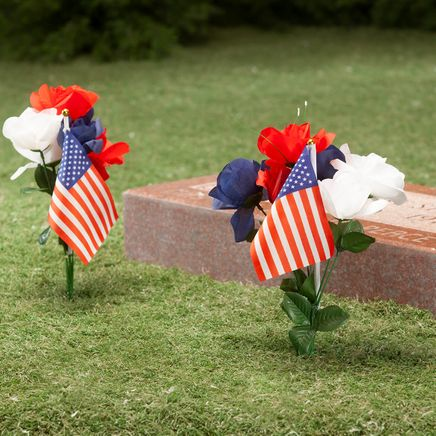 Red, White and Blue American Rose Tributes, Set of 2-368331