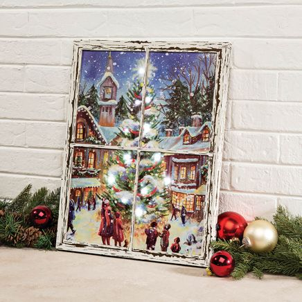 Christmastime Lighted Canvas by Holiday Peak™-368333