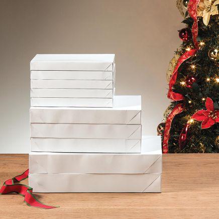 White Gift Boxes, Set of 10-368345