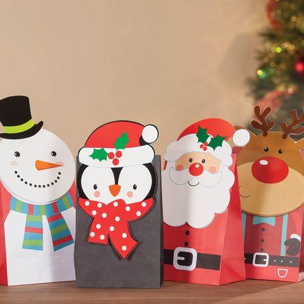 Holiday Die Cut Gift Sacks-368349