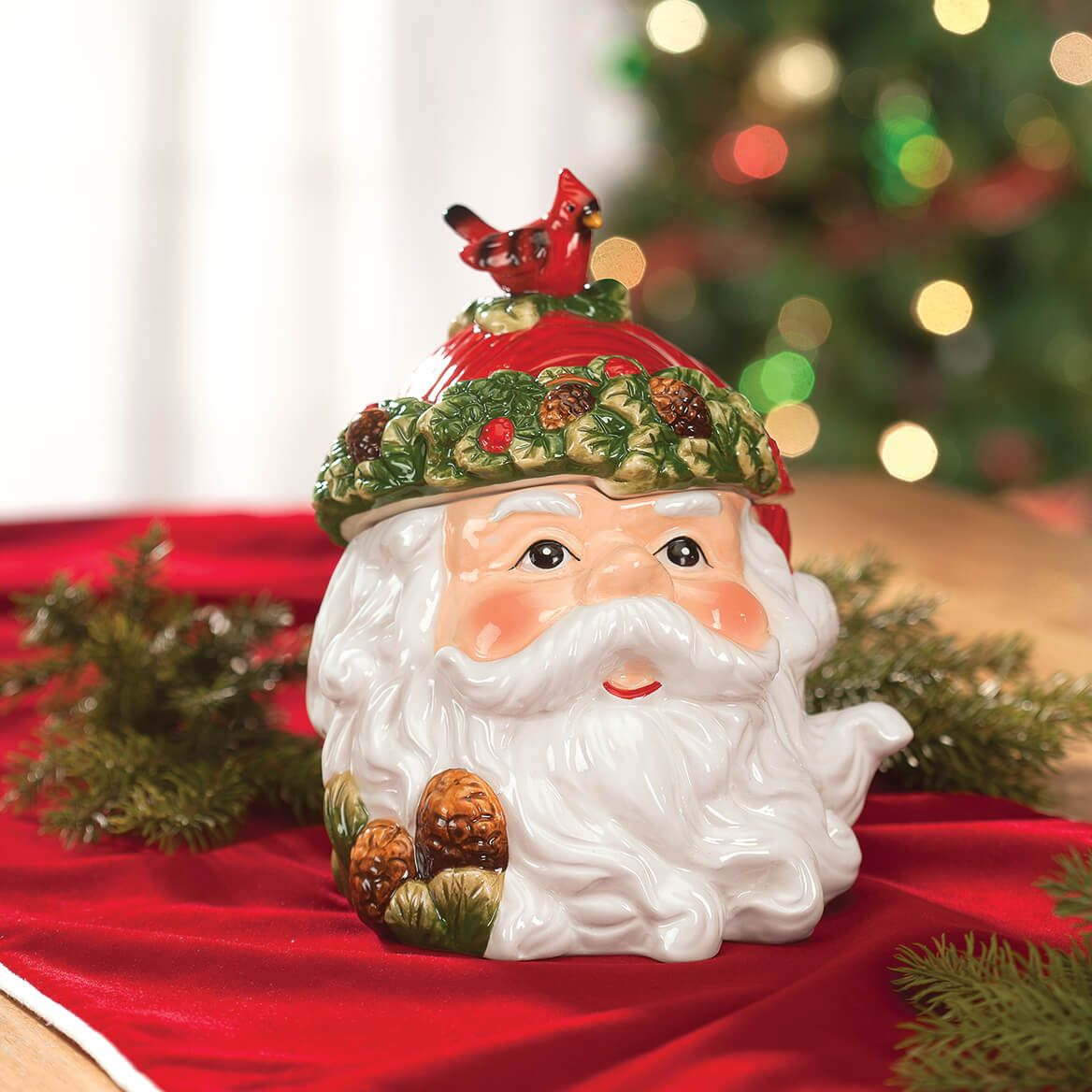 Holiday Santa Cookie & Treat Jar-368381