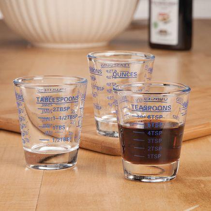 Mini Measuring Shot Glasses, Set of 3-368387