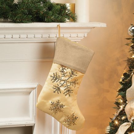 Silver & Gold Stocking by Holiday Peak™-368390