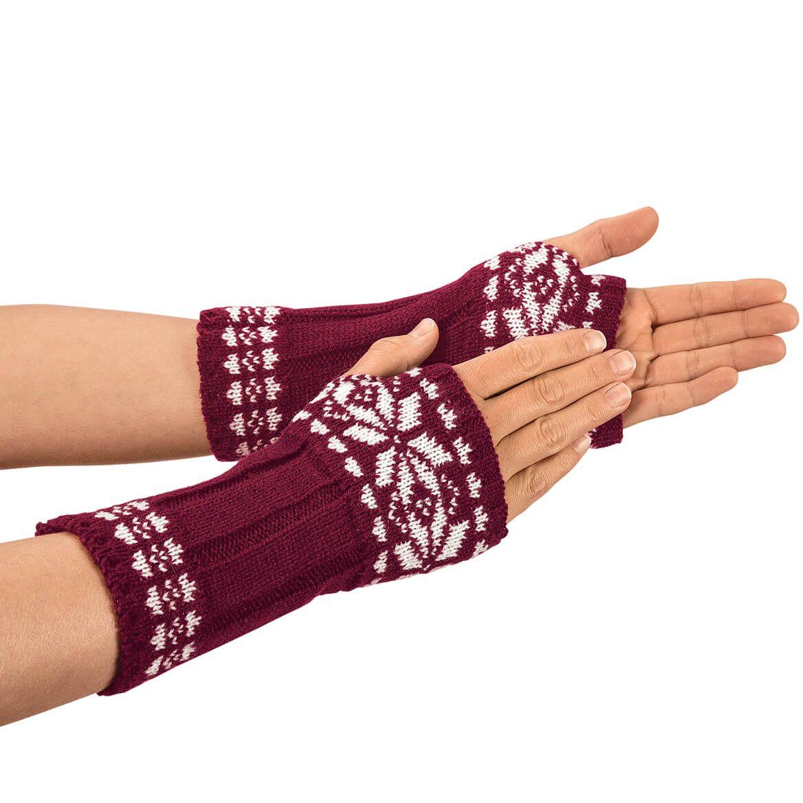 Snowflake Fingerless Gloves-368395