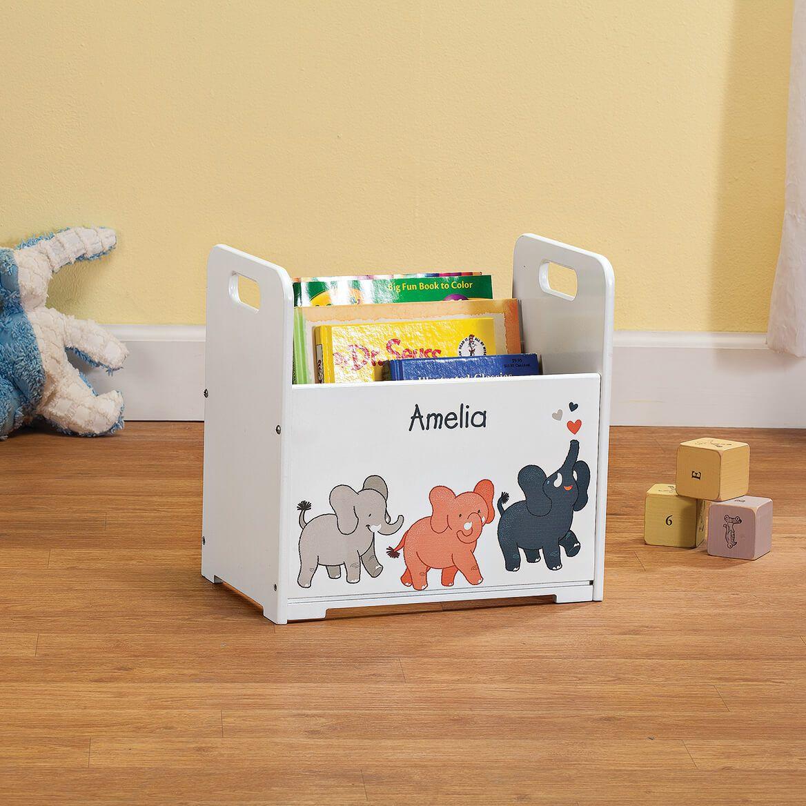 Personalized Elephants Books Caddy-368445