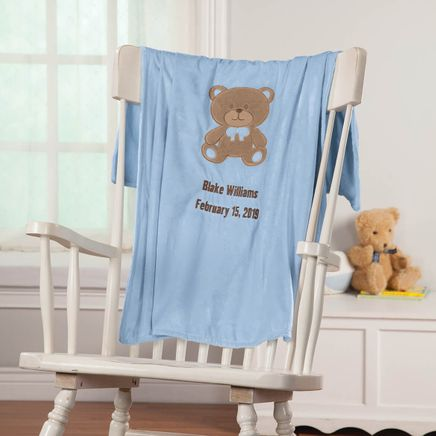 Personalized Teddy Bear Baby Blanket-368457
