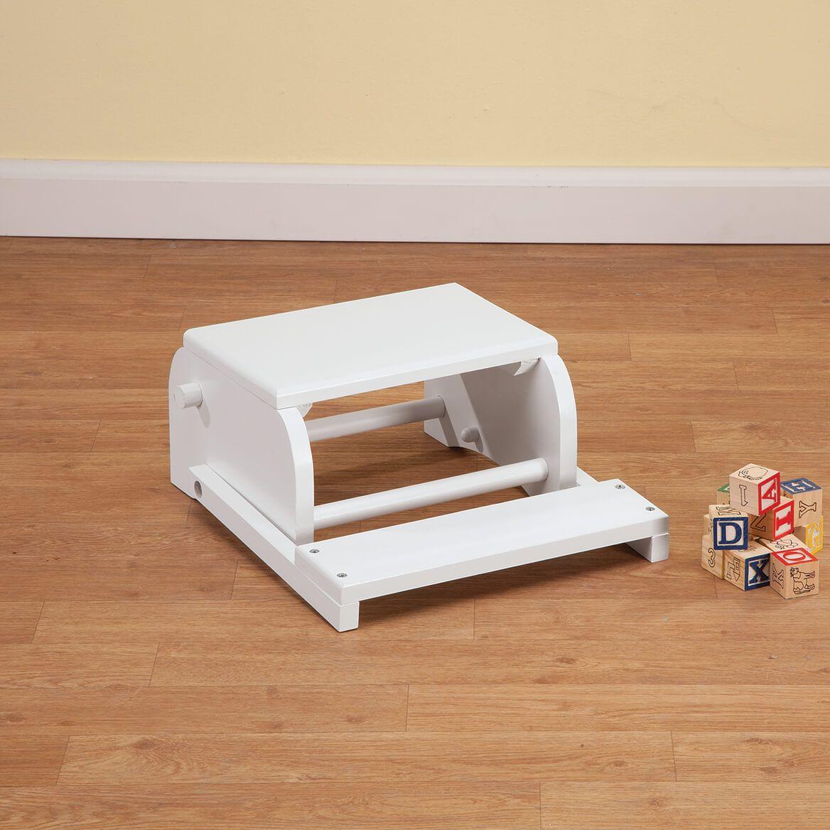 Personalized Children's White Dinosaur Step Stool-368496
