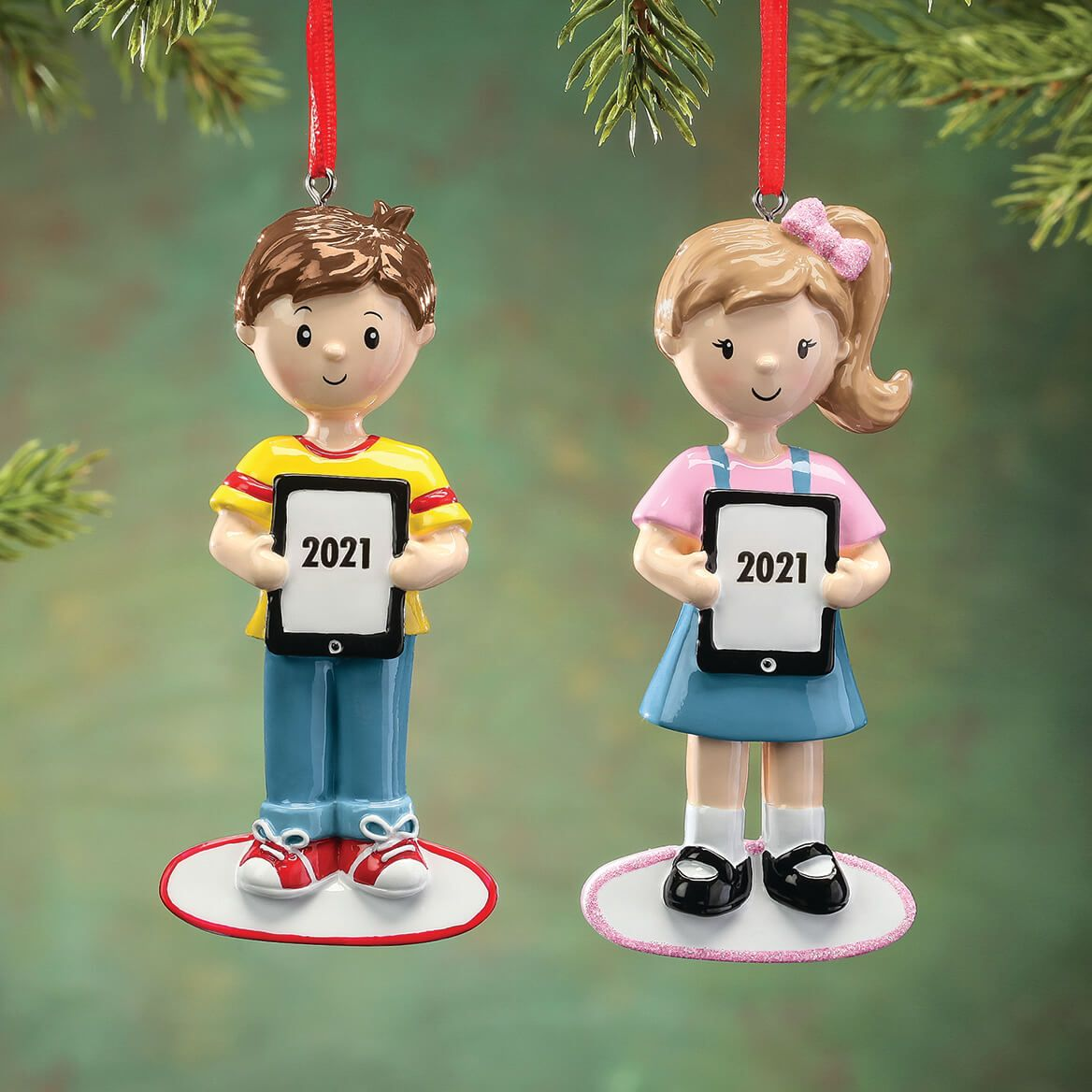 Personalized Tablet Child Ornament-368516
